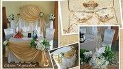Оформление свадеб (ткани,  флористика,  шары)