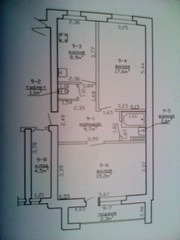 большая 2-комнатная квартира!