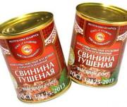 ГОСТ Свинина тушеная консервы  мясн.к усков. стер. 1с (338гр.)