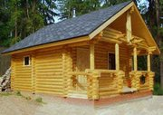 Дома бани из бревна