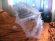Продам кружевной свадебный зонтик (срочно)